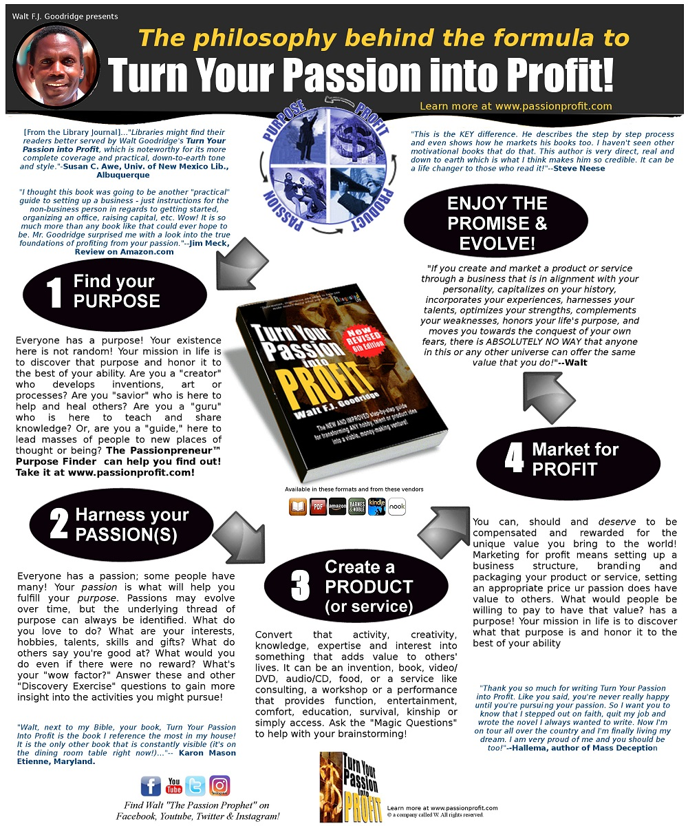 Turn Your Passion into Profit infographic